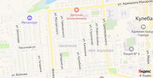Улица Кулибина в Кулебаках с номерами домов на карте. Спутник и схема онлайн