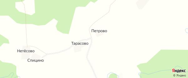 Карта деревни Тарасово в Костромской области с улицами и номерами домов