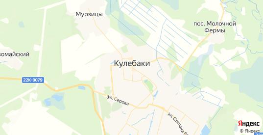 Карта Кулебак с улицами и домами подробная. Показать со спутника номера домов онлайн