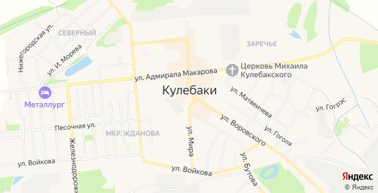 Карта территории СНТ Колос в Кулебаках с улицами, домами и почтовыми отделениями со спутника онлайн