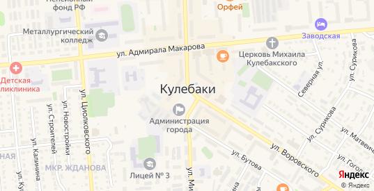 ГМ ул Интернациональная территория в Кулебаках с номерами домов на карте. Спутник и схема онлайн