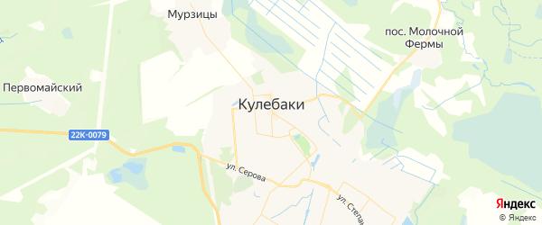 Карта Кулебаки с районами, улицами и номерами домов