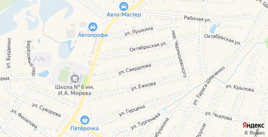 Улица Свердлова в Кулебаках с номерами домов на карте. Спутник и схема онлайн