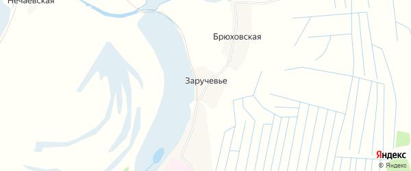 Карта деревни Заручевья в Архангельской области с улицами и номерами домов