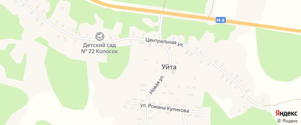 Квартал Жилой массив Талто на карте деревни Уйты Архангельской области с номерами домов