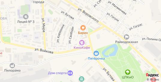 Демократическая улица в Кулебаках с номерами домов на карте. Спутник и схема онлайн