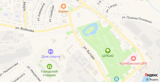Улица Бутова в Кулебаках с номерами домов на карте. Спутник и схема онлайн