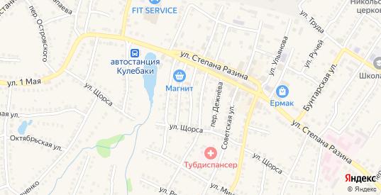 Переулок Шмидта в Кулебаках с номерами домов на карте. Спутник и схема онлайн