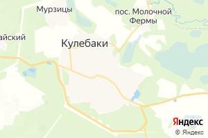 Карта г. Кулебаки Нижегородская область