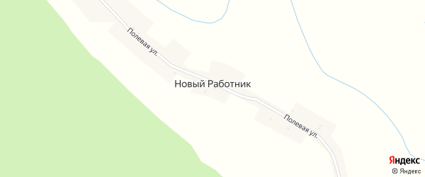 Заречная улица на карте поселка Нового Работника Пензенской области с номерами домов