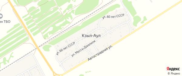 Лесодачная улица на карте хутора Кзыла-Аула Ростовской области с номерами домов