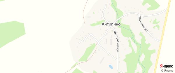Томненская улица на карте деревни Антипино (Решемское СП) Ивановской области с номерами домов
