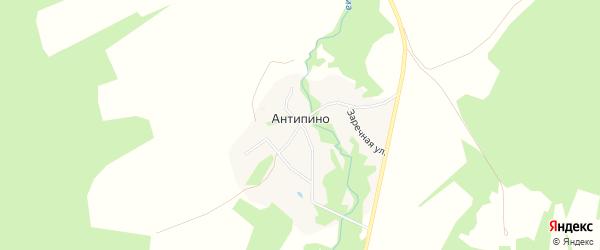 Карта деревни Антипино (Решемское СП) в Ивановской области с улицами и номерами домов