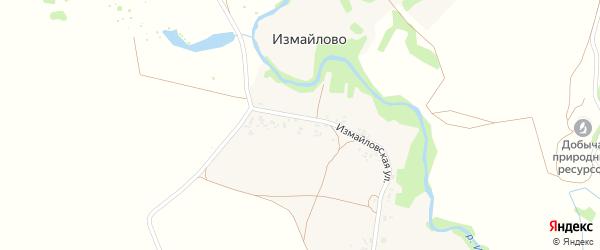 Измайловская улица на карте деревни Измайлово Тамбовской области с номерами домов