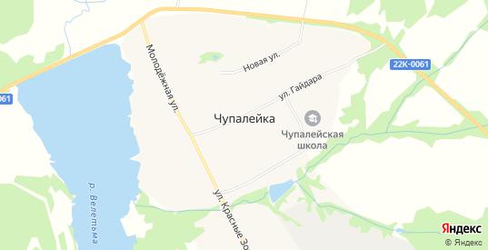 Карта села Чупалейка в Выксе с улицами, домами и почтовыми отделениями со спутника онлайн