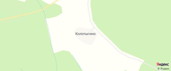 Карта деревни Колотыгино в Костромской области с улицами и номерами домов