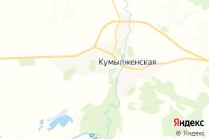 Карта ст. Кумылженская Волгоградская область