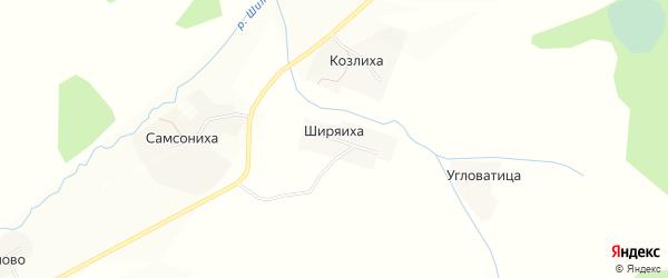 Карта деревни Ширяихи в Ивановской области с улицами и номерами домов