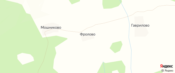 Карта деревни Фролово в Костромской области с улицами и номерами домов