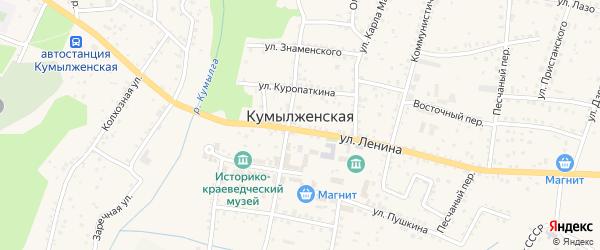 Улица Гоголя на карте Кумылженской станицы Волгоградской области с номерами домов