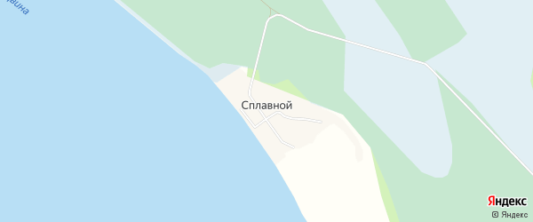 Карта Сплавного поселка в Архангельской области с улицами и номерами домов