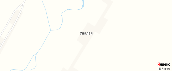 Вторая улица на карте Удалой деревни Пензенской области с номерами домов