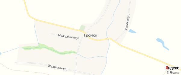 Карта села Громка в Пензенской области с улицами и номерами домов
