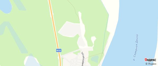 Карта деревни Пянды в Архангельской области с улицами и номерами домов