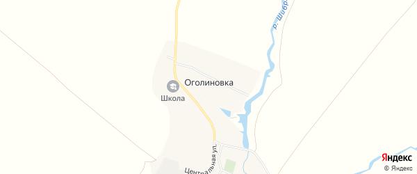 Карта деревни Оголиновки в Тамбовской области с улицами и номерами домов