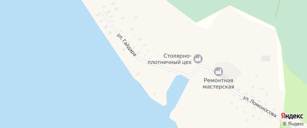 Улица Гайдара на карте поселка Усть-Ваеньги Архангельской области с номерами домов