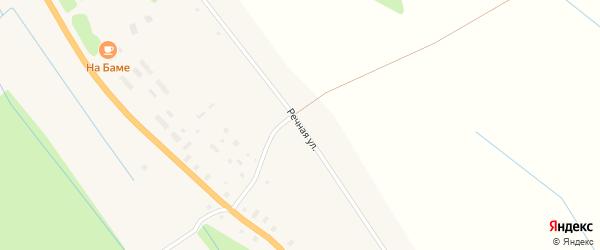 Речная улица на карте деревни Нижнее Чажестрово Архангельской области с номерами домов