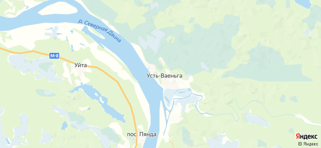 Усть-Ваеньга на карте