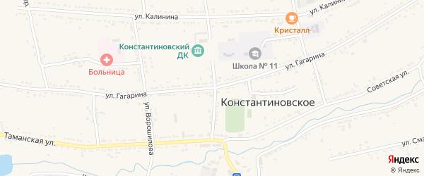 Улица Гагарина на карте Константиновского села Ставропольского края с номерами домов