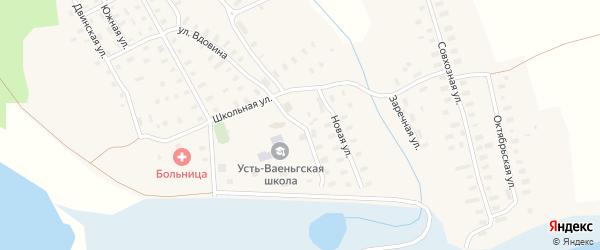 Советская улица на карте поселка Усть-Ваеньги Архангельской области с номерами домов