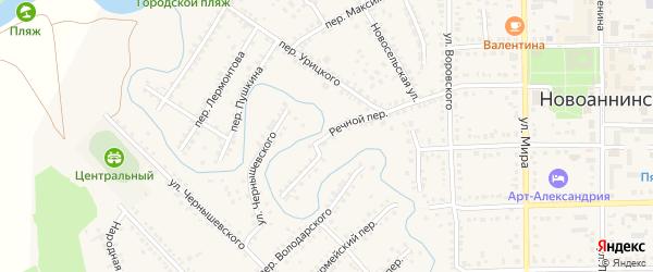 Речной переулок на карте Новоаннинского с номерами домов