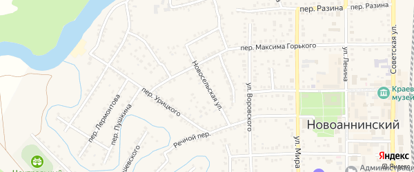 Новосельская улица на карте Новоаннинского с номерами домов