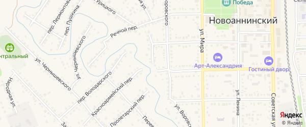 Переулок Володарского на карте Новоаннинского с номерами домов