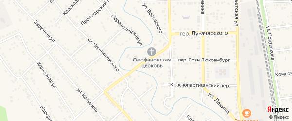 Переулок Луначарского на карте Новоаннинского с номерами домов