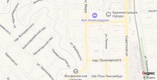 Пролетарский переулок в Новоаннинском с номерами домов на карте. Спутник и схема онлайн