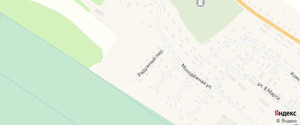 Радужный переулок на карте поселка Березника Архангельской области с номерами домов