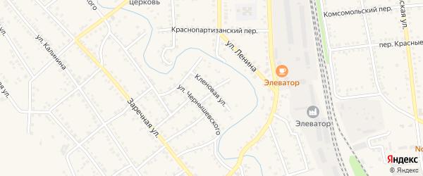 Кленовая улица на карте Новоаннинского с номерами домов