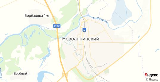 Карта Новоаннинского с улицами и домами подробная. Показать со спутника номера домов онлайн