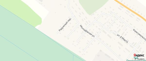 Гагаринский переулок на карте поселка Березника Архангельской области с номерами домов