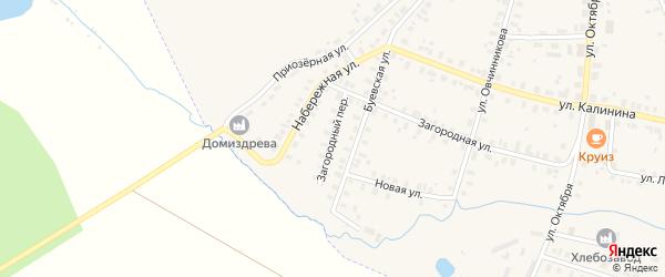 Загородный переулок на карте Чухломы с номерами домов
