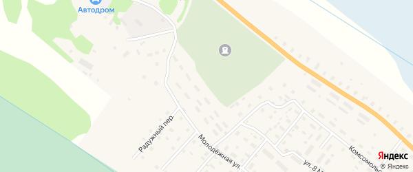 Молодежная улица на карте поселка Березника Архангельской области с номерами домов