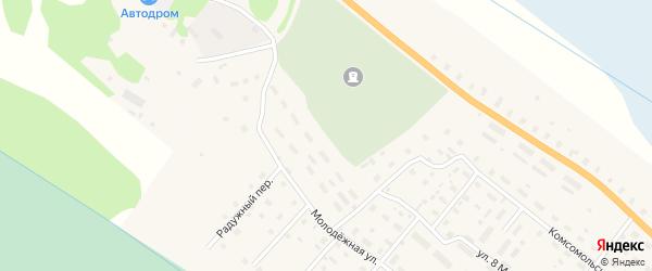 Молодежная улица на карте поселка Березника с номерами домов
