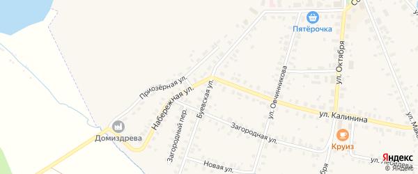 Буевская улица на карте Чухломы с номерами домов