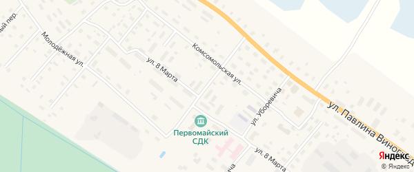 Нагорная улица на карте поселка Березника Архангельской области с номерами домов