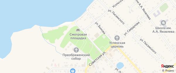 Травяная улица на карте Чухломы с номерами домов