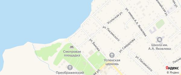 Улица Луначарского на карте Чухломы с номерами домов